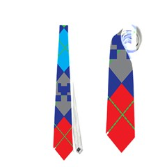 Minecraft Ugly Holiday Christmas Neckties (one Side)