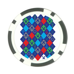 Minecraft Ugly Holiday Christmas Poker Chip Card Guards (10 Pack)