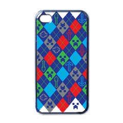 Minecraft Ugly Holiday Christmas Apple iPhone 4 Case (Black)