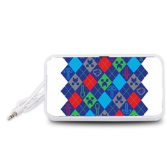Minecraft Ugly Holiday Christmas Portable Speaker (White)