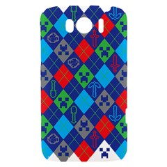 Minecraft Ugly Holiday Christmas HTC Sensation XL Hardshell Case