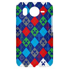Minecraft Ugly Holiday Christmas HTC Desire HD Hardshell Case