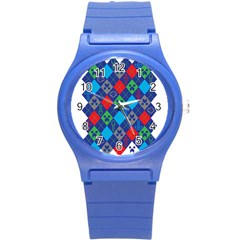 Minecraft Ugly Holiday Christmas Round Plastic Sport Watch (S)