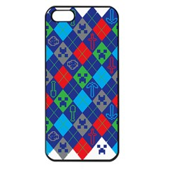 Minecraft Ugly Holiday Christmas Apple iPhone 5 Seamless Case (Black)