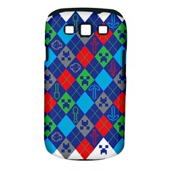 Minecraft Ugly Holiday Christmas Samsung Galaxy S III Classic Hardshell Case (PC+Silicone)