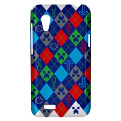 Minecraft Ugly Holiday Christmas HTC Desire VT (T328T) Hardshell Case