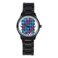 Minecraft Ugly Holiday Christmas Stainless Steel Round Watch