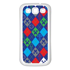 Minecraft Ugly Holiday Christmas Samsung Galaxy S3 Back Case (White)