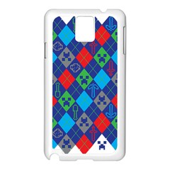 Minecraft Ugly Holiday Christmas Samsung Galaxy Note 3 N9005 Case (white)