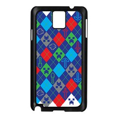 Minecraft Ugly Holiday Christmas Samsung Galaxy Note 3 N9005 Case (Black)