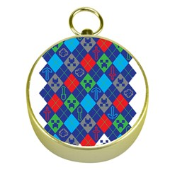 Minecraft Ugly Holiday Christmas Gold Compasses