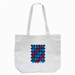 Minecraft Ugly Holiday Christmas Tote Bag (White)