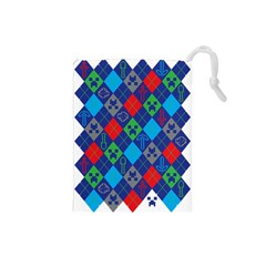 Minecraft Ugly Holiday Christmas Drawstring Pouches (Small)