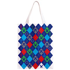 Minecraft Ugly Holiday Christmas Classic Light Tote Bag