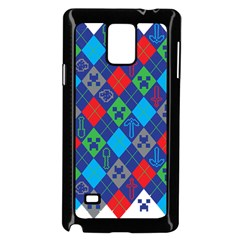 Minecraft Ugly Holiday Christmas Samsung Galaxy Note 4 Case (black)
