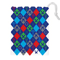 Minecraft Ugly Holiday Christmas Drawstring Pouches (XXL)