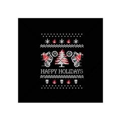 Motorcycle Santa Happy Holidays Ugly Christmas Black Background Acrylic Tangram Puzzle (4  x 4 )