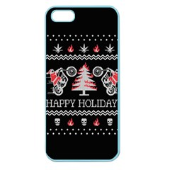 Motorcycle Santa Happy Holidays Ugly Christmas Black Background Apple Seamless iPhone 5 Case (Color)