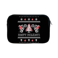 Motorcycle Santa Happy Holidays Ugly Christmas Black Background Apple iPad Mini Zipper Cases