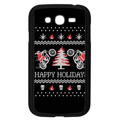 Motorcycle Santa Happy Holidays Ugly Christmas Black Background Samsung Galaxy Grand DUOS I9082 Case (Black)