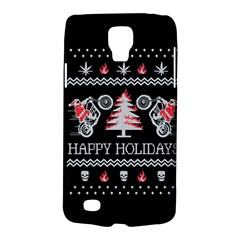 Motorcycle Santa Happy Holidays Ugly Christmas Black Background Galaxy S4 Active