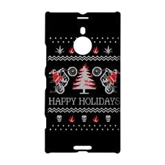 Motorcycle Santa Happy Holidays Ugly Christmas Black Background Nokia Lumia 1520