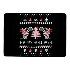 Motorcycle Santa Happy Holidays Ugly Christmas Black Background Samsung Galaxy Tab Pro 10.1  Flip Case