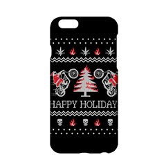 Motorcycle Santa Happy Holidays Ugly Christmas Black Background Apple iPhone 6/6S Hardshell Case