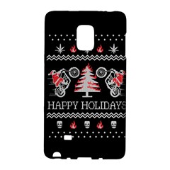 Motorcycle Santa Happy Holidays Ugly Christmas Black Background Galaxy Note Edge