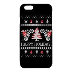 Motorcycle Santa Happy Holidays Ugly Christmas Black Background iPhone 6/6S TPU Case