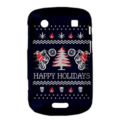 Motorcycle Santa Happy Holidays Ugly Christmas Blue Background Bold Touch 9900 9930