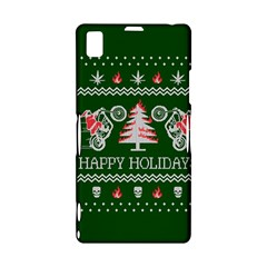 Motorcycle Santa Happy Holidays Ugly Christmas Green Background Sony Xperia Z1