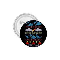 My Grandma Likes Dinosaurs Ugly Holiday Christmas Black Background 1.75  Buttons