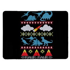 My Grandma Likes Dinosaurs Ugly Holiday Christmas Black Background Kindle Fire (1st Gen) Flip Case