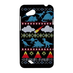 My Grandma Likes Dinosaurs Ugly Holiday Christmas Black Background HTC Desire VC (T328D) Hardshell Case