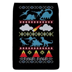 My Grandma Likes Dinosaurs Ugly Holiday Christmas Black Background Flap Covers (S)