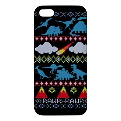 My Grandma Likes Dinosaurs Ugly Holiday Christmas Black Background iPhone 5S/ SE Premium Hardshell Case