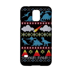 My Grandma Likes Dinosaurs Ugly Holiday Christmas Black Background Samsung Galaxy S5 Hardshell Case