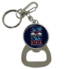 My Grandma Likes Dinosaurs Ugly Holiday Christmas Blue Background Bottle Opener Key Chains