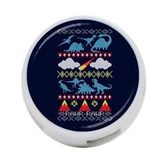 My Grandma Likes Dinosaurs Ugly Holiday Christmas Blue Background 4-Port USB Hub (Two Sides)