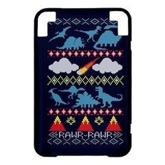 My Grandma Likes Dinosaurs Ugly Holiday Christmas Blue Background Kindle 3 Keyboard 3G