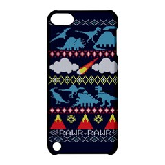 My Grandma Likes Dinosaurs Ugly Holiday Christmas Blue Background Apple Ipod Touch 5 Hardshell Case With Stand