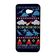 My Grandma Likes Dinosaurs Ugly Holiday Christmas Blue Background HTC Butterfly S/HTC 9060 Hardshell Case