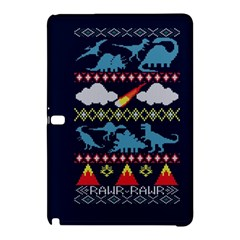 My Grandma Likes Dinosaurs Ugly Holiday Christmas Blue Background Samsung Galaxy Tab Pro 12 2 Hardshell Case