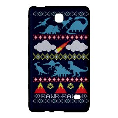 My Grandma Likes Dinosaurs Ugly Holiday Christmas Blue Background Samsung Galaxy Tab 4 (7 ) Hardshell Case