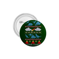 My Grandma Likes Dinosaurs Ugly Holiday Christmas Green Background 1.75  Buttons