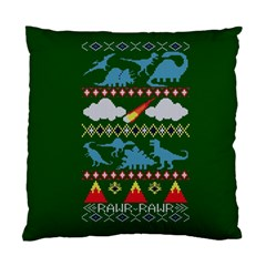 My Grandma Likes Dinosaurs Ugly Holiday Christmas Green Background Standard Cushion Case (one Side)