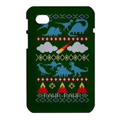 My Grandma Likes Dinosaurs Ugly Holiday Christmas Green Background Samsung Galaxy Tab 7  P1000 Hardshell Case