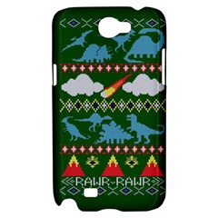 My Grandma Likes Dinosaurs Ugly Holiday Christmas Green Background Samsung Galaxy Note 2 Hardshell Case