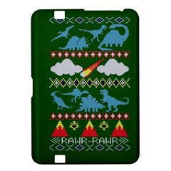 My Grandma Likes Dinosaurs Ugly Holiday Christmas Green Background Kindle Fire HD 8.9